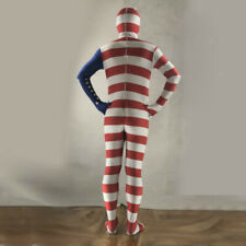 America USA Flag Costume Bodysuits Independence Day Party Dress Up S-XXL
