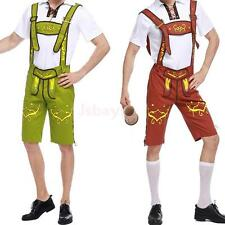 Bavarian Guy German Lederhosen Oktoberfest T Shirt Short Pants Mens Costrume