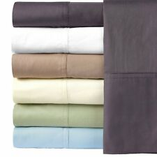 Silky Soft 100% Bamboo Cotton Pillow Cases, King Hybrid Bamboo 2PC Pillowcases