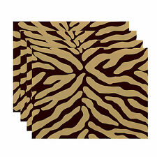 World Menagerie Echo Animal Stripe Geometric Print Placemat Set of 4