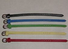 5 Basic Color Leather 6mm Belts for Integrity, Fashion Royalty, & Barbie Dolls