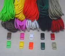 550 Paracord Kit for Parachute Cord Bracelet ~ 36 feet + 5 Color Buckles Choose