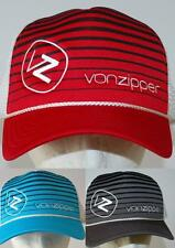 VON ZIPPER CAP NEW Unisex MENS MOBY LINES TRUCKER RED CHARCOAL  POOL SURF SKATE