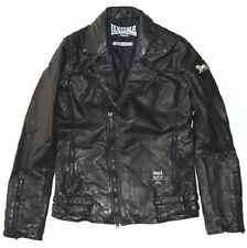 "LONSDALE 1108 ""MOTORCYCLE JACKET""  BLACK size M"