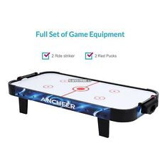 "40"" Table Top Air Hockey 12V ABS Puck Catcher Air-powered Motor Champions Game"
