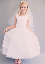 White Flower Girl Dress First Holy Communion Wedding Easter Bridal
