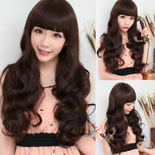 New Sexy Cosplay Womens Fashion Party Full Long Hair Wig Ladies Wavy Curly WIgs