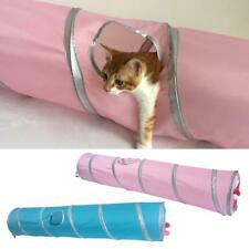 Collapsible Cat Tunnel Cat Tent Cloth Material Two Suspend Balls for Kitten Fun