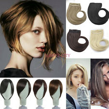 Clip In On Straight Neat Bangs Fringe With Temples Hair Extensions Hairpiece Nld