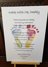 DAD DADDY POEM FRAMED PRINT FATHER'S DAY walk alongside me Daddy Personalised