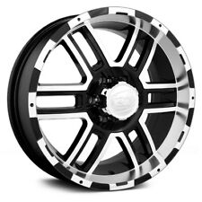 17x8 ION ALLOY Wheels +10 | 8x170 | 130.8 179 Black w Machined Face & Lip
