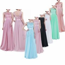 Women Long Chiffon Evening Formal Party Cocktail Bridesmaid Prom Gown Maxi Dress