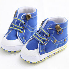 Pre-walkers Shoes Baby Boys Toddler Infant Soft Sole Canvas Shoes 0-12 Months