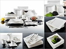 30PC Complete Dinner Set Soup Plates Pasta Bowls Cups Saucer Ceramic Dining Set