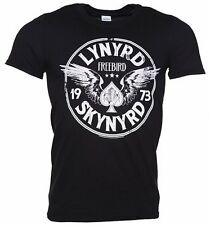 Official Men's Black Lynyrd Skynyrd Freebird 73 Wings T-Shirt