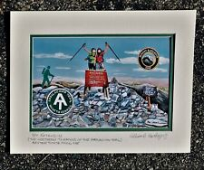 Appalachian Trail Art Print Thru Hiking Maine Georgia AT AMC Mt Katahdin Peak ME