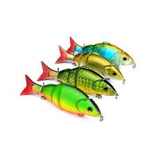 Multi Jointed Fishing Lure Plastic Minnow Baits Crankbait for Bass Fishing