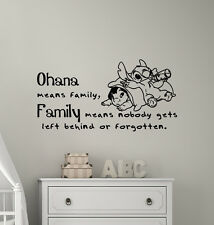 Vinyl Wall Decal Ohana Means Family Quotes Decal Home Decor Nursery Bedroom L649