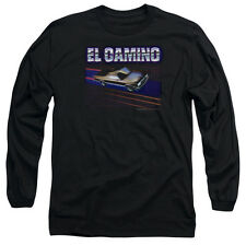 Chevy El Camino 85 Mens Long Sleeve Shirt Black