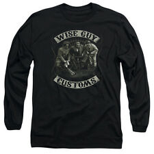 The Three Stooges Wise Guy Customs Mens Long Sleeve Shirt Black
