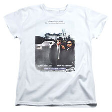 Blues Brothers Distressed Poster Womens Short Sleeve Shirt
