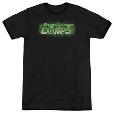 Green Lantern Gl Corps Title Adult Heather Ringer Shirt
