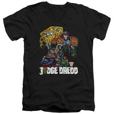 Judge Dredd Bike And Badge Mens V-Neck Shirt