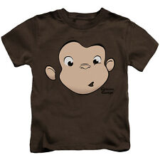 Curious George George Face Little Boys Juvy Shirt COFFEE (4)