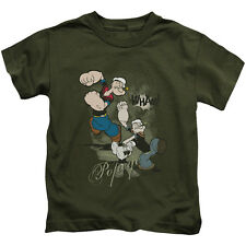 Popeye Three Part Punch Little Boys Juvy Shirt