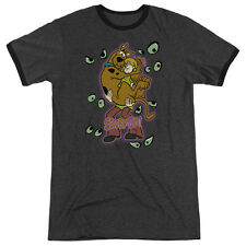 Scooby Doo Being Watched Adult Heather Ringer Shirt