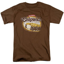 Chipwich Distressed Chipwich Mens Short Sleeve Shirt COFFEE