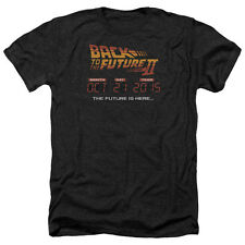 Back To The Future II Future Is Here Mens Heather Shirt Black