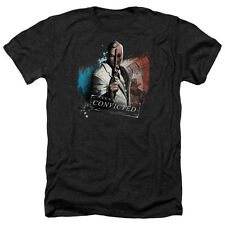Arkham City Two Face Mens Heather Shirt Black