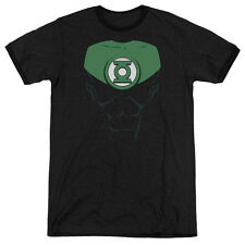 Green Lantern Jon Stewart Mens Adult Heather Ringer Shirt Black