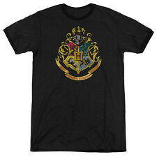 Harry Potter Hogwarts Crest Adult Heather Ringer Shirt