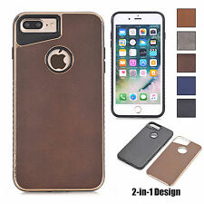 Plating Ultra Slim PC Leather Hard Phone Back Case Cover For Apple iPhone Phone