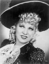 Mae West smiling in Glamorous Dress with Hat High Quality Photo