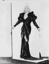Mae West standing Pose in Black Dress High Quality Photo
