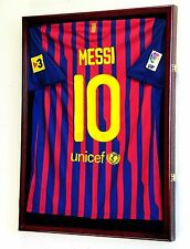 Soccer World Cup Jersey Display Case Cabinet Wall Rack Shadowbox 98% UV Lockable