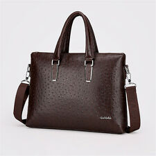 Hot Men's 100% Real Leather Business Briefcase Handbag Attache Laptop Bag Luxury