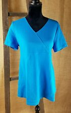 Crave Apparel Maternity NWT short sleeve shirt blue M and L
