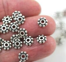 Heishi Disk Beads, Tierracast, 6mm, Antique Silver Plate, 20/100 Pieces, 0712