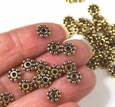 Heishi Disk Beads, Tierracast, 6mm, Antique Gold Plate, 20/100 Pieces, 0726