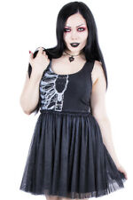 Iron Fist Gothic Goth Occult Wishbone Tank Dress Evening Prom Party Black Tulle
