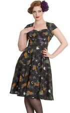 Hell Bunny Pin Up Retro Goth Gothic Harlow 50s Dress Halloween Print Spooky