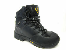 Ascot 'Ridge' Men's Black Lace Up Leather Insulated Vibram Sole Work Boots