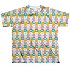 Adventure Time Hexagon Pattern Big Boys Youth Sublimated Polyester Shirt (White,