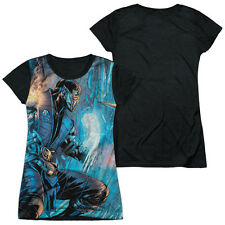 Mortal Kombat Kombat Comic Juniors Sublimation Shirt with Black Back