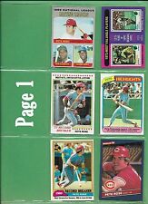 Pete Rose 1970 Topps #61 + Other Topps, Fleer, Sportsflics or Quaker Most NM/MT