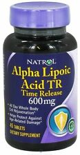 NATROL ALPHA LIPOIC ACID 600mg TIME RELEASE*SAMPLES & 45 CAP BOTTLES-FREE SHIP